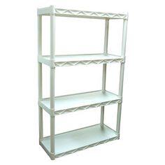 Plano Molding 4 Shelf Solid Utility Shelving Unit - White