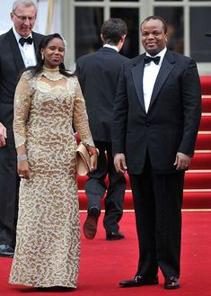 Mswati III, the King of Swaziland with a guest.