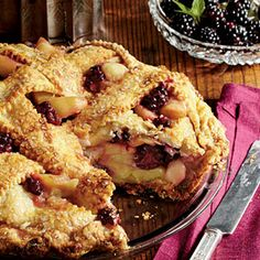 Blackberry-Apple Pie with a white-cheddar crust