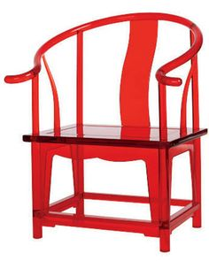 Chinoiserie chair in acrylic