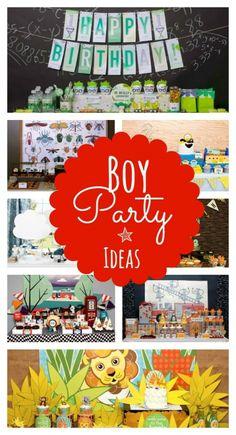 Party Ideas JUST for Boys! Spaceships & Laser Beams on Kara's Party Ideas KarasPartyIdeas.com #boy #party #ideas