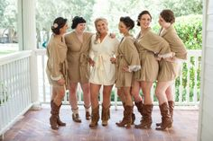 Bride and Bridesmaid Robes used in our rustic wedding.  Copyright - Jerdan Photography