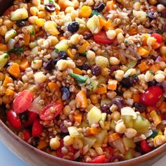 Farro and Chickpea Salad