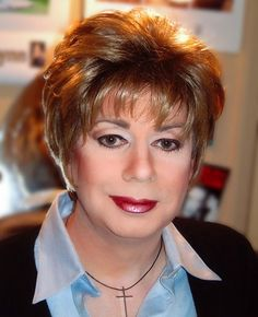 Cute Short Hairstyles for Women Over 50 - but not the make-up!!!!
