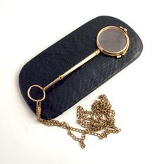 1890 Double Gold French Lorgnette with Chain by PartnerAntiques, $165.00