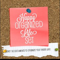 Home Organization Printables Home Management by HappyOrganizedLife