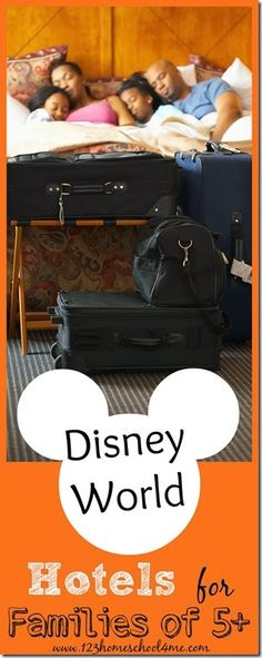 Disney World Hotels for Families of 5, 6, 7 , 8, 9, and 10 people. With in depth look at Art of Animation Family Suites. #disneyworld