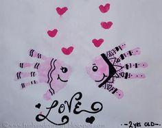 Handprint Fish Valentines