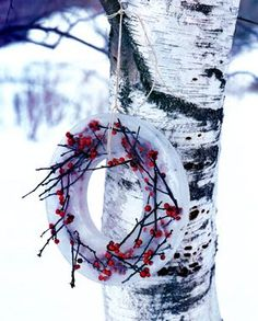 winter...Ice and holly berry wreath