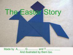 Easter Story Tangram Activity Book