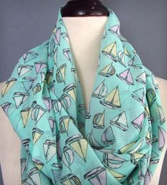 Nautical Mint Lightweight Infinity Scarf | Women's Bags & Accessories | K. Michael | Scoutmob Shoppe | Product Detail