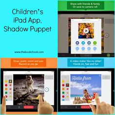 Children's iPad App, Shadow Puppet - great for telling a digital story. Makes a video once voice recorded over images. Free version is quite good. Reviewed at http://www.thebookchook.com/2014/08/childrens-ipad-app-shadow-puppet.html