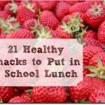 21 Healthy Snacks to Put In Your Child's School Lunch