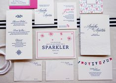 Day-of Pieces | Nautical Inspired Wedding Invitations by Gus & Ruby Letterpress | www.gusandruby.com