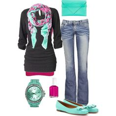 """Mint and Pink"" by crzrdnk77 on Polyvore"
