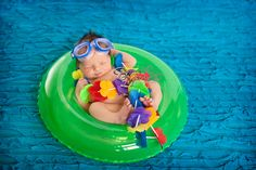 """Newborn """"Floating"""" on an Inner-Tube (Bryna Marie Photography)"""