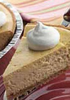 PHILADELPHIA 3-STEP Pumpkin Cheesecake — Mix, pour, bake—that's all you have to do in this tasty-as-ever dessert recipe. It's not pie, but it's easy as pie!