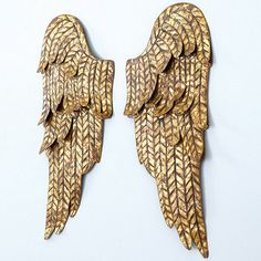 Set of 2 Angel Wings Wall Plaque . . .  to go above Moonie's bed