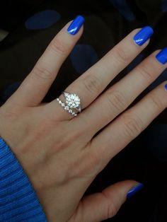 Verragio engagement ring with 1.00 carat round diamond | Purchased at Steve Padis Jewelry! #padisbride