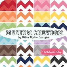 Medium Chevron Fat Quarter Bundle Riley Blake Designs