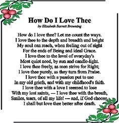 elizabeth barrett browning poetry images | How Do I Love Thee? ~ Elizabeth Barrett Browning | Poetry appreciation