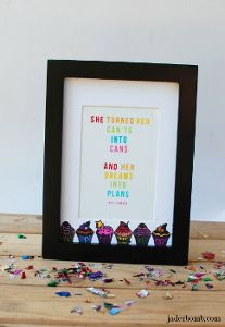 Creative Cupcake Frame using @Sarah Plue Corporation of America products from @Conni Dorin Bomb