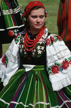 Polish woman in traditional Polish costume..! Beautiful..!