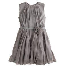 Girls' crinkle chiffon dress at JCrew. Swooning.