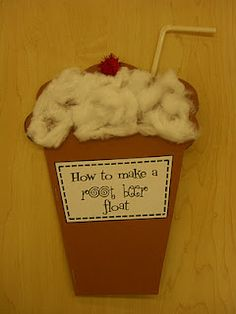 How to make a root beer float - Great site with LOTS of pics!!!First Grade Garden: November 2011 classroom idea, craft, school, procedural writing, famili, beer float, writing activities, root beer, how to writing first grade