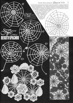 spiderweb doily - freeform, charted, russian, lace, irish crochet