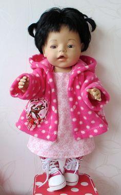 """Jurk & Jasje """"Bambi""""   *POPPENKLEDING* voor ca. 43cm (o.a. BabyBorn)   Astrids Atelier Poppenkleding"""