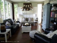 Small Country Living Rooms | fall living room modern country Fall Mantel & Living Room