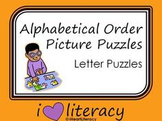 Alphabetical Order Picture Puzzles
