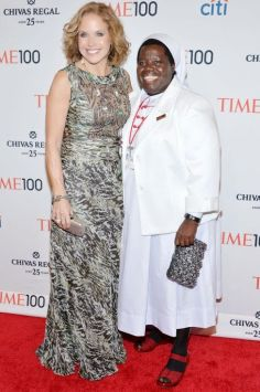 NEW YORK, NY - APRIL 29: Journalist Katie Couric (L) and Honoree Sister Rosemary Nyirumbe attend the TIME 100 Gala, TIME's 100 most influential people in the world, at Jazz at Lincoln Center on April 29, 2014 in New York City. (Photo by Ben Gabbe/Getty Images for TIME)