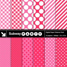INSTANT DOWNLOAD Digital Papers Pack in Polka Dot by subwayParty, $3.20