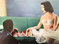 Model Annlee Danels, 1951.Vintage lingerie. 1950s fashion