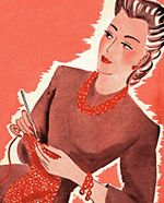vintage knitting, vintage illustrations, knitting patterns, crochet, vintag knit, vintage patterns, gift tags, yarn, knit book