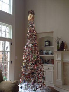Our unique tomato cage Christmas tree cage tree, tomato cage, christma tree, cage christma, christmas trees, uniqu tomato