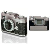 Digital camera designed to look like old-fashioned vintage camera.