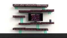 Donkey Kong shelf (render)