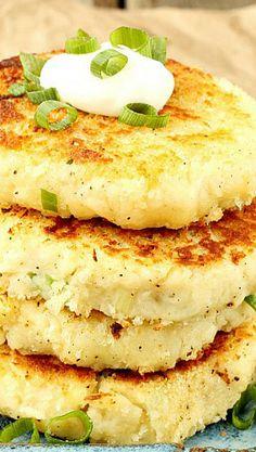 Mashed Parmesan Potato Cakes