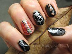 Punk-a-licious! by brkrulesntnails - Nail Art Gallery nailartgallery.nailsmag.com by Nails Magazine www.nailsmag.com #nailart