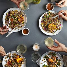 Recipe of the Day: We've got another awesome summer salad recipe for you – and this one's a Meatless Monday meal your taste buds won't soon forget. This Fiery Fruit and Quinoa Salad is perfect for a lazy warm evening, finished with a spicy, nutty chipotle-spiked orange chia dressing that will heat up your tastebuds. #summer #summerrecipe #salad #healthyrecipe #lowcalorie #chiaseeds #spicy #fruit