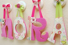 Custom Nursery Letters, Baby Name, Girl Room Decor, Wooden Wall Letters, Hanging Letters, Personalized Name, Block Letters- The RuggedPearl