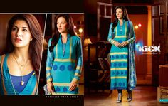 As everyone is busy collecting designer suits to filled their wardrobe for special festivals. This is latest Indian #JacquelineFernandez Suits for women from the #Movie #Kick.  Click To Shop:- http://www.shoppers99.com/rakhi_special/kick_movie_designer_salwar_suits_collection