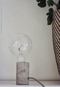 Poppytalk: DIY Concrete Lamp