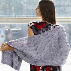 Texture Stitch Wrap (knit) - Patons Yarn