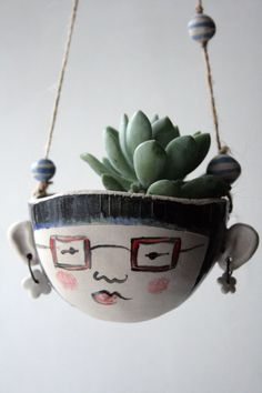 Ceramic hanging planter-Matilda hipster