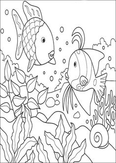 coloring page Rainbow Fish