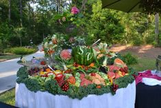 weddingfruitdisplays04, cater idea, fruit display, parti